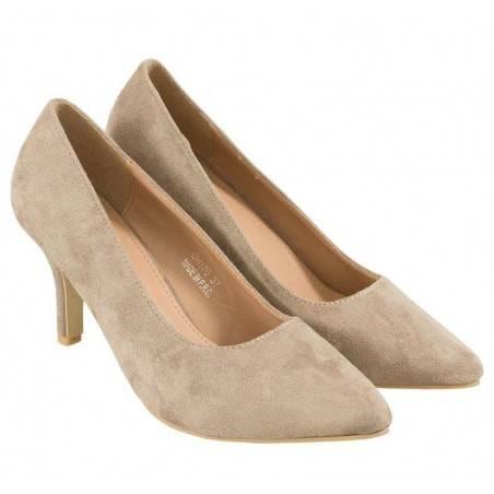 Pantofi Femei Bej Eleganti si Clasici