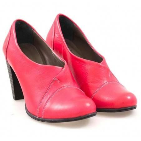 Pantofi femei elegant piele rosii