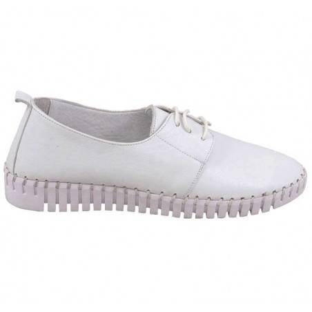 Pantofi femei casual piele albi