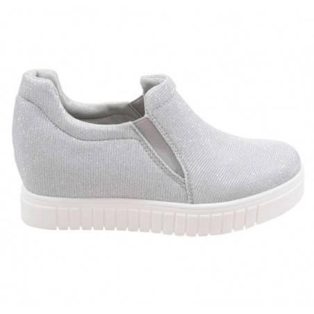 Pantofi Femei Textil argintii