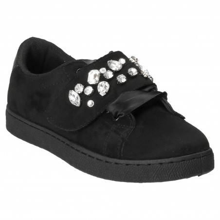 Pantofi Femei casual negri cu pietre