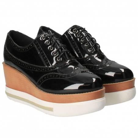 Pantofi Oxford, de dama, negri
