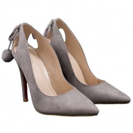 Pantofi femei elegant gri