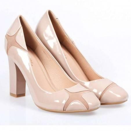 Pantofi Femei Elegant lac Bej