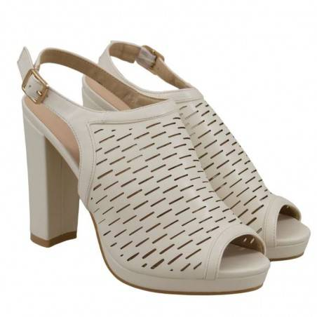 Sandale Femei Elegante Albe