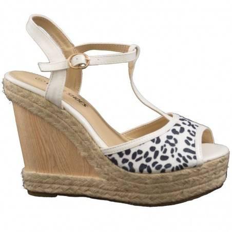 Sandale Femei platforma casual bej