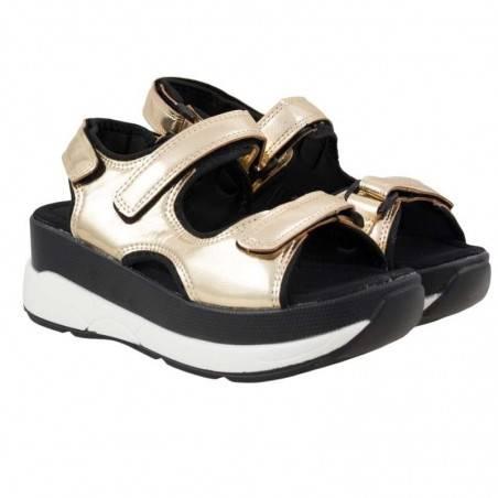 Sandale Femei Platforma aurii Fly For