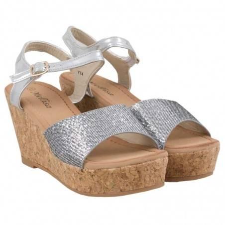 Sandale dama casual argintiu marca Dame Rose