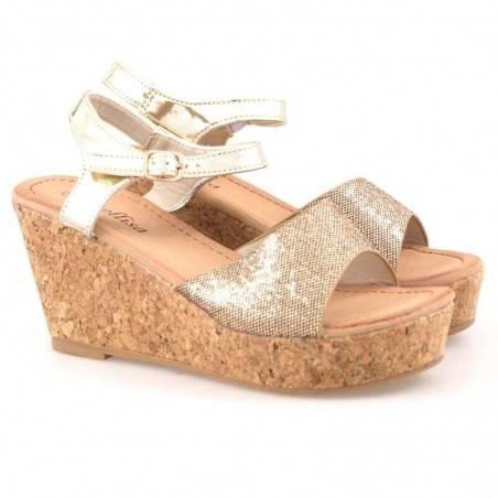 Sandale dama casual auriu marca Mellisa