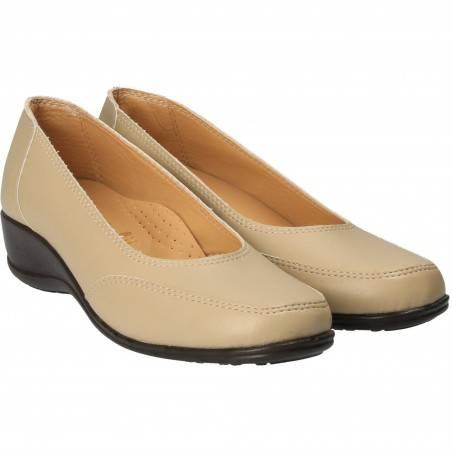 Pantofi Femei Platforma Bej