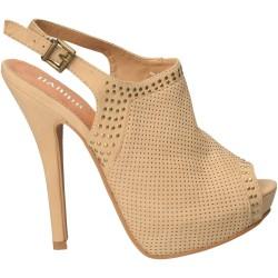 Sandale Femei Platforma Bej