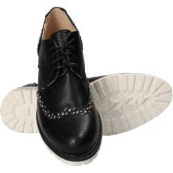 Pantofi Femei Casual Oxford Negri