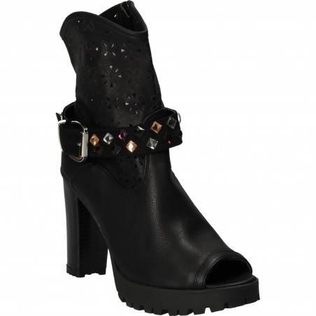 Sandale Femei Inalte Trendy Negre
