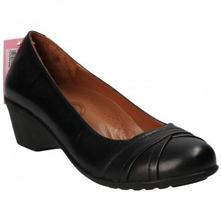 Pantofi Femei Platformă Piele Negri DA VINCI