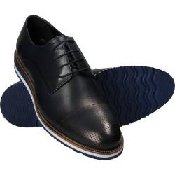 Pantofi Barbati Elegant Piele Albastri DA VINCI