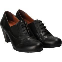 Pantofi Femei Oxford Piele Negri DA VINCI