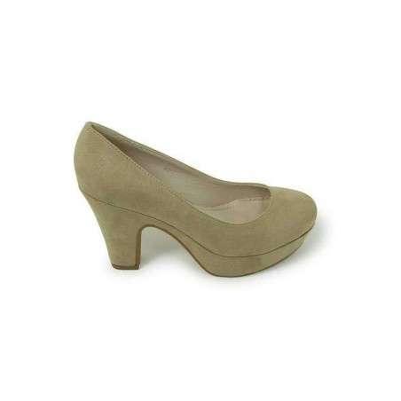 Pantofi femei eleganti, cu toc, bej