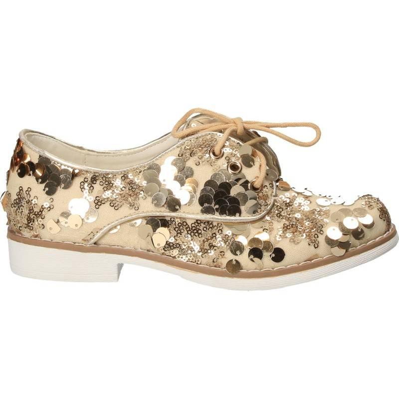 Pantofi Fete Paiete Aurii