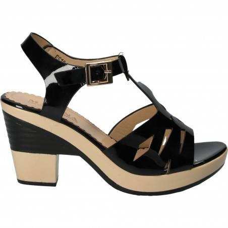 Sandale Femei Elegante Lac Negru