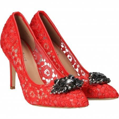 Pantofi Femei Dantela Eleganti Rosii