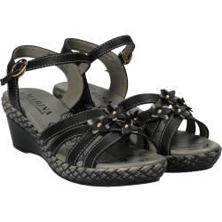Sandale Femei, casual, piele ecologica negre