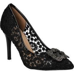 Pantofi Femei, Eleganti, Dame Rose, Negri, din dantela