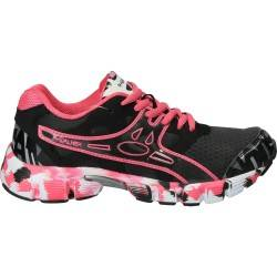 Pantofi Sport negri cu fuxia, R-walker pentru femei