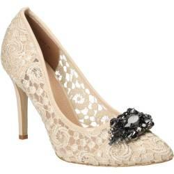 Pantofi din dantela Dame Rose bej