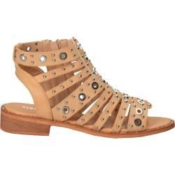 Sandale cu capse, trendy, bej pentru femei