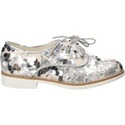 Pantofi pentru copii, cu paiete, argintii, Bacio-Bacio