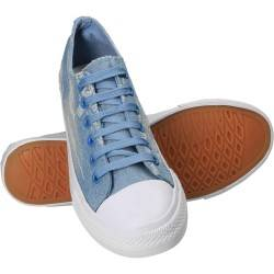 Tenisi jeans pentru barbati, albastru deschis