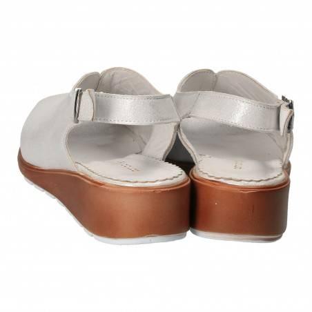 Sandale pentru femei, alb metalizat, marca Patrizia Rigotti