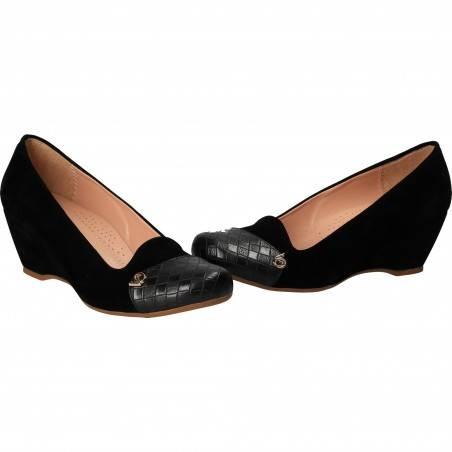 Pantofi clasici negri, pentru femei, marca Ventes