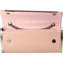 Poseta de seara, clutch, culoarea roz, marca Michelle Moon