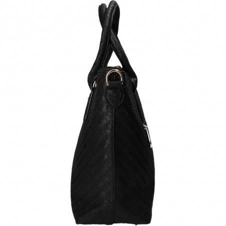 Poseta dama neagra, piele ecologica, marca Idea Luigi