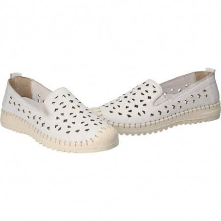 Espadrile albe, trendy, pentru dama, din piele naturala