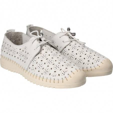 Pantofi albi din piele naturala, Patrizia Rigotti, pentru femei