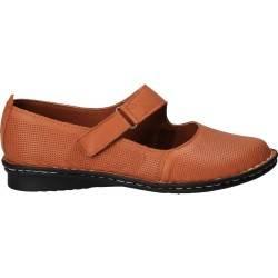 Pantofi perforati, de dama, din piele, maro, Prima Donna