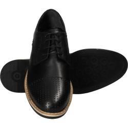 Pantofi negri, eleganti, pentru barbati, piele naturala, marca Da Vinci