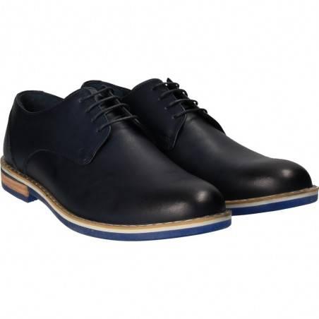 Pantofi barbati, bleumarin, marca Da Vinci, din piele naturala