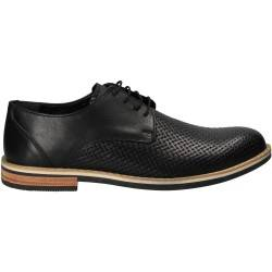 Pantofi office, negri, pentru barbati, Da Vinci