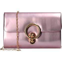 Geanta clutch, culoarea roz metalizat