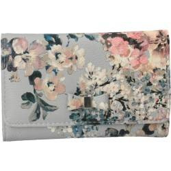 Portmoneu modern de dama, imprimeu floral