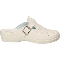 Saboti medicali Fly Shoes, de dama, culoarea alba