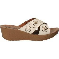 Saboti florali de dama, albi, Fly Shoes