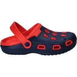 Papuci bleumarin, stil crocs, pentru femei