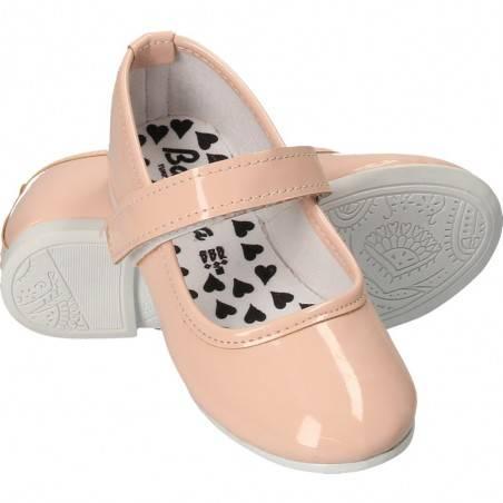 Balerini lac, roz, cu scai, pentru fetite