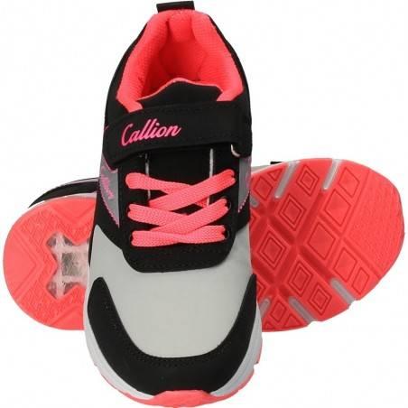 Pantofi Callion, de sport, pentru fete, cu luminite