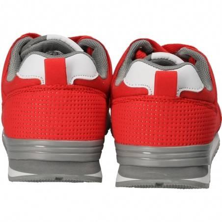 Pantofi Sport Femei Rosu cu Gri