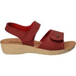 Sandale casual rosii, pentru femei, marca Fly Shoes